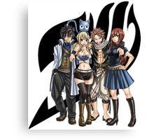 Logo Black Natsu & Friends Canvas Print