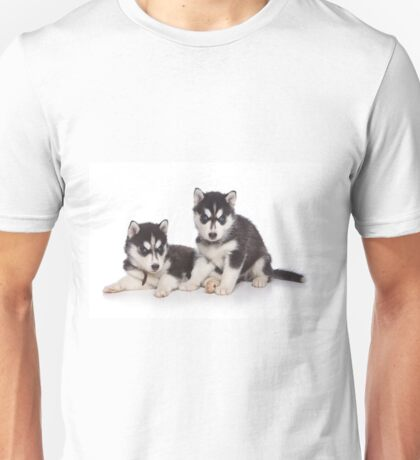 Cute puppy Husky with blue eyes Unisex T-Shirt