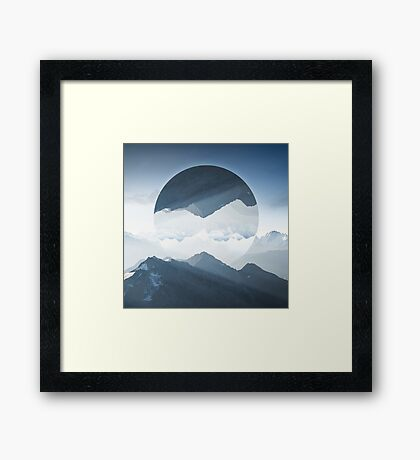 High mountain in morning time Framed Print
