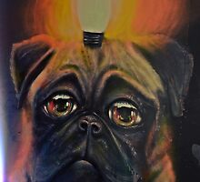 Pug dog & light by heinrich
