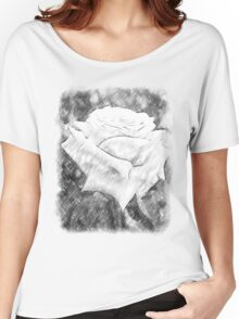 Pink Roses in Anzures 6 Charcoal Women's Relaxed Fit T-Shirt