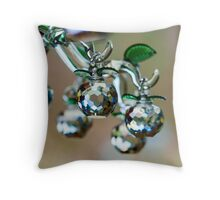 Beautiful home decorative elements produced from crystal glass Throw Pillow
