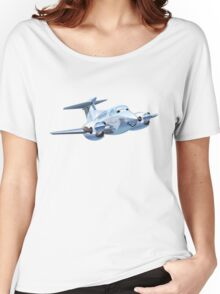 Cartoon Civil utility airplane Women's Relaxed Fit T-Shirt