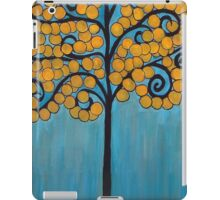 Happy Tree In Blue and Gold iPad Case/Skin