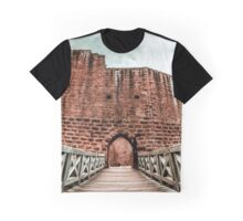 Ruins of medieval castle Wangenbourg on the top of hill, Alsace, France Graphic T-Shirt