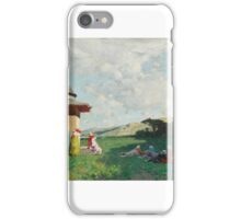 ALBERTO PASINI - TURKISH WOMEN AT A SHRINE iPhone Case/Skin