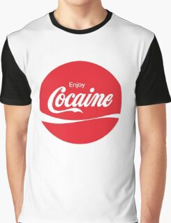 Circular Coca Coke Cola Cocaine Clean Graphic T-Shirt