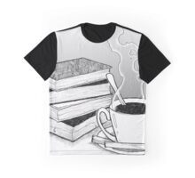 Coffee and Books Graphic T-Shirt