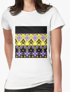Seamless ethnic ornament. 3 Womens Fitted T-Shirt