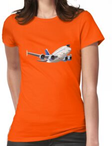 Cartoon Airliner Womens Fitted T-Shirt