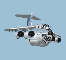 Cartoon Cargo Plane Kids Tee