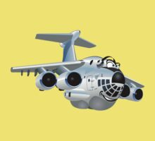 Cartoon Cargo Plane Baby Tee