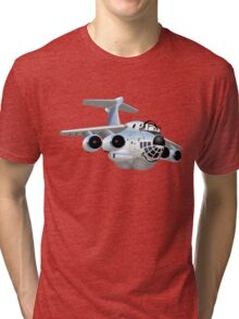 Cartoon Cargo Plane Tri-blend T-Shirt
