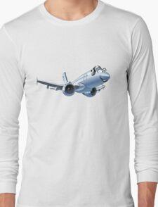 Cartoon Airliner Long Sleeve T-Shirt