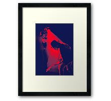 u2 - bono and edge Framed Print