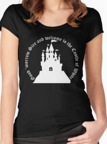 Welcome to the Castle of White (All clothing) Women's Fitted Scoop T-Shirt