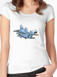 Cartoon Jetbird Women's Fitted Scoop T-Shirt