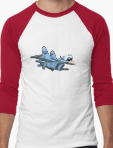Cartoon Jetbird Men's Baseball ¾ T-Shirt