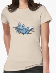 Cartoon Jetbird Womens Fitted T-Shirt