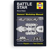 Haynes Manual - Battlestar - Poster and stickers Canvas Print