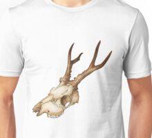 Roe Deer Skull Unisex T-Shirt