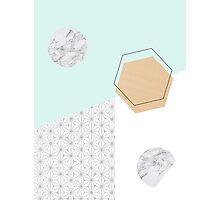 Geometrical materials Photographic Print