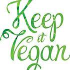 Keep it Vegan 02 - Happy quote by Silvia Neto