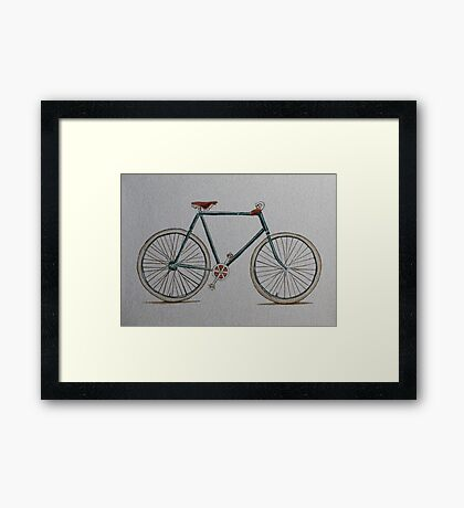 Putting the cycle in recycled! Framed Print