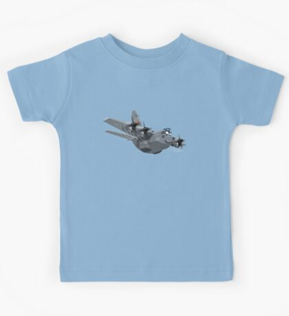 Cartoon Military Cargo Plane Kids Tee