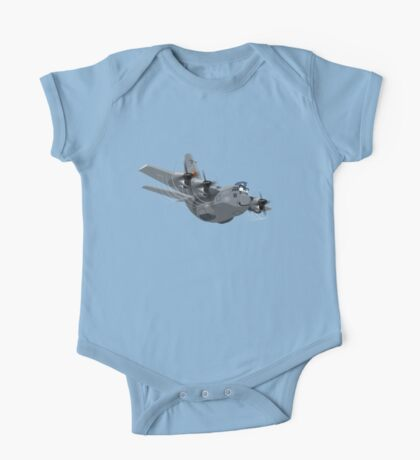 Cartoon Military Cargo Plane One Piece - Short Sleeve
