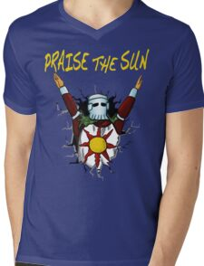 3D praise the sun Mens V-Neck T-Shirt