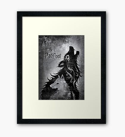 Moony & Padfoot Framed Print