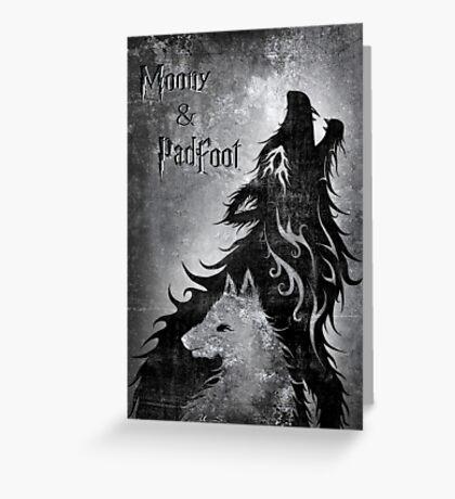 Moony & Padfoot Greeting Card