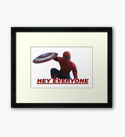 Hey Everyone - Spider-Man Framed Print
