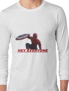 Hey Everyone - Spider-Man Long Sleeve T-Shirt