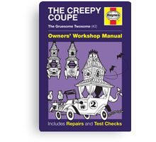 Haynes Manual - The Creepy Coupe - Poster and stickers Canvas Print