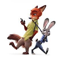 NICK WILDE and JUDY HOPPS Zootopia Photographic Print