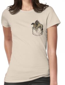 Pocket Deathclaw Womens Fitted T-Shirt