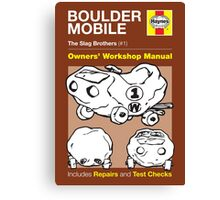 Haynes Manual - The Boulder Mobile - Poster and stickers Canvas Print