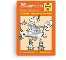 Haynes Manual - Convert-a-car - Poster and stickers Canvas Print
