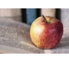 Apple On Books 2 Photographic Print