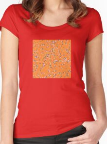 Pencil Pattern Women's Fitted Scoop T-Shirt
