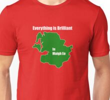 EVERYTHING IS BRILLIANT IN MAYO - GREEN ON RED Unisex T-Shirt