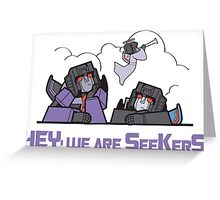 transformers seeker Greeting Card