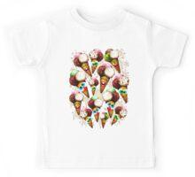 Ice Cream Cones Cartoon Pattern Kids Tee
