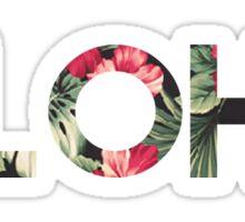 Floral Aloha Sticker
