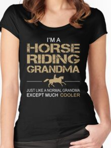 I'm a Horse riding grandma Women's Fitted Scoop T-Shirt