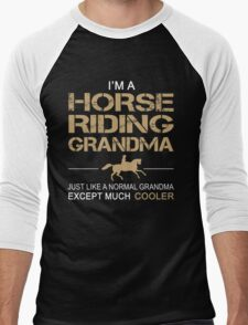 I'm a Horse riding grandma Men's Baseball ¾ T-Shirt