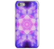 Cosmic kaleidoscope with pink and blue circles iPhone Case/Skin