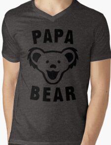 PAPA BEAR Mens V-Neck T-Shirt